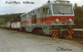 Locomotora de FEVE  ,en Cudillero Asturias.