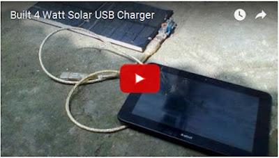 video Youtube DIY 4 Watt solar charger