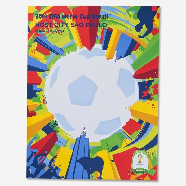 2014 FIFA World Cup Brazil Host City Poster
