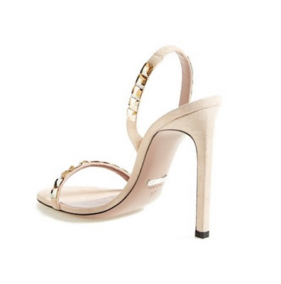 Gucci barely there high heeled slingback sandals