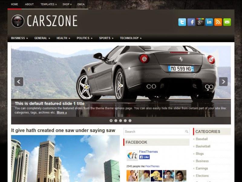CarsZone - Free Wordpress Theme