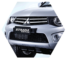Front grill of strada triton Exceed Type.