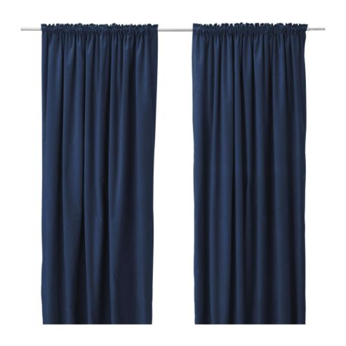 Dark Purple Shower Curtain French Blue Curtain Panels