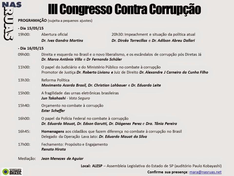 III CONGRESSO CONTRA CORRUPÇÃO