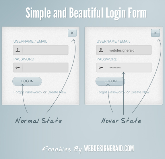 10 Impressive Login Forms PSD Templates