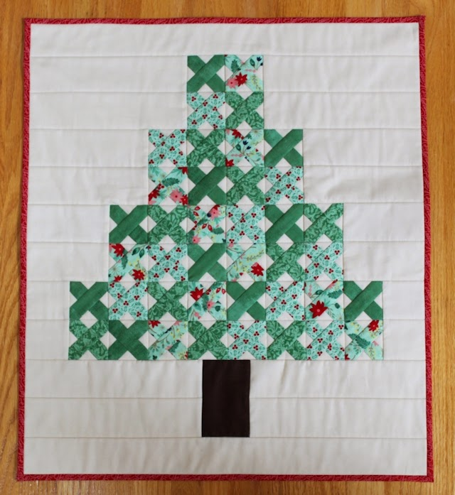Easy X blocks = Easy Tree Quilt