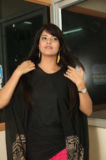 Anasuya Looks gorgeous in Black Kurti and Sindoori Salwar