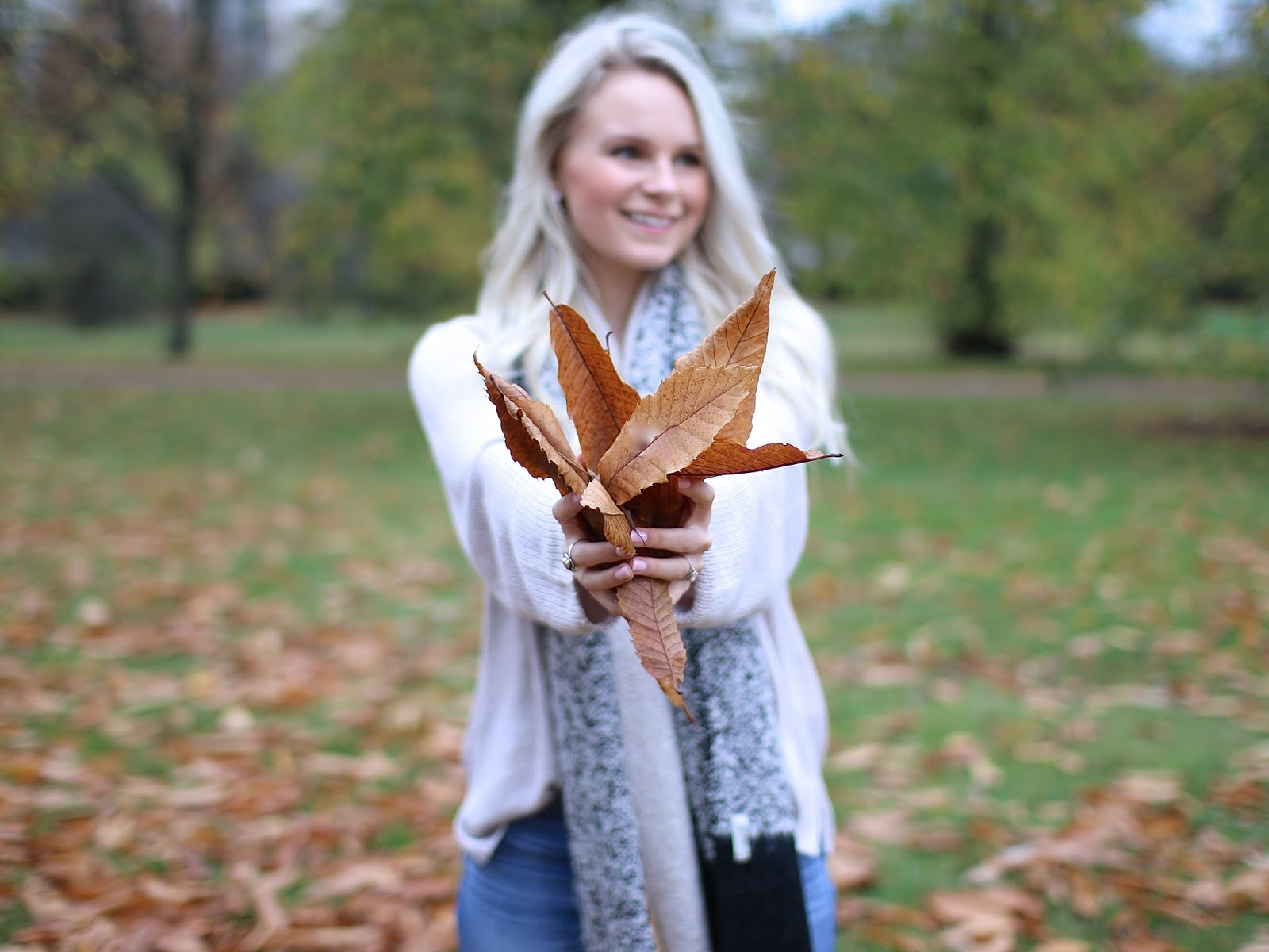 photography, holding leaves at the camera, 1.5 aperture while in hyde park, london