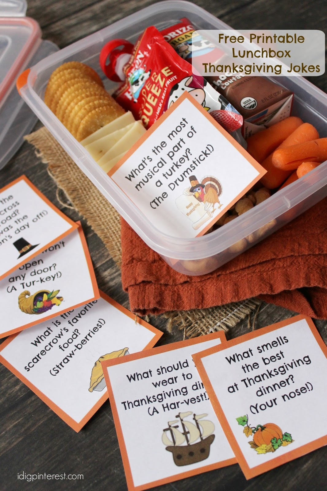 Kids lunch idea with free printable thanksgiving lunch box jokes ive mentioned before that my kids may be the pickiest in the universe they refuse to even eat sandwiches but yet they love to bring home lunch every day forumfinder Gallery