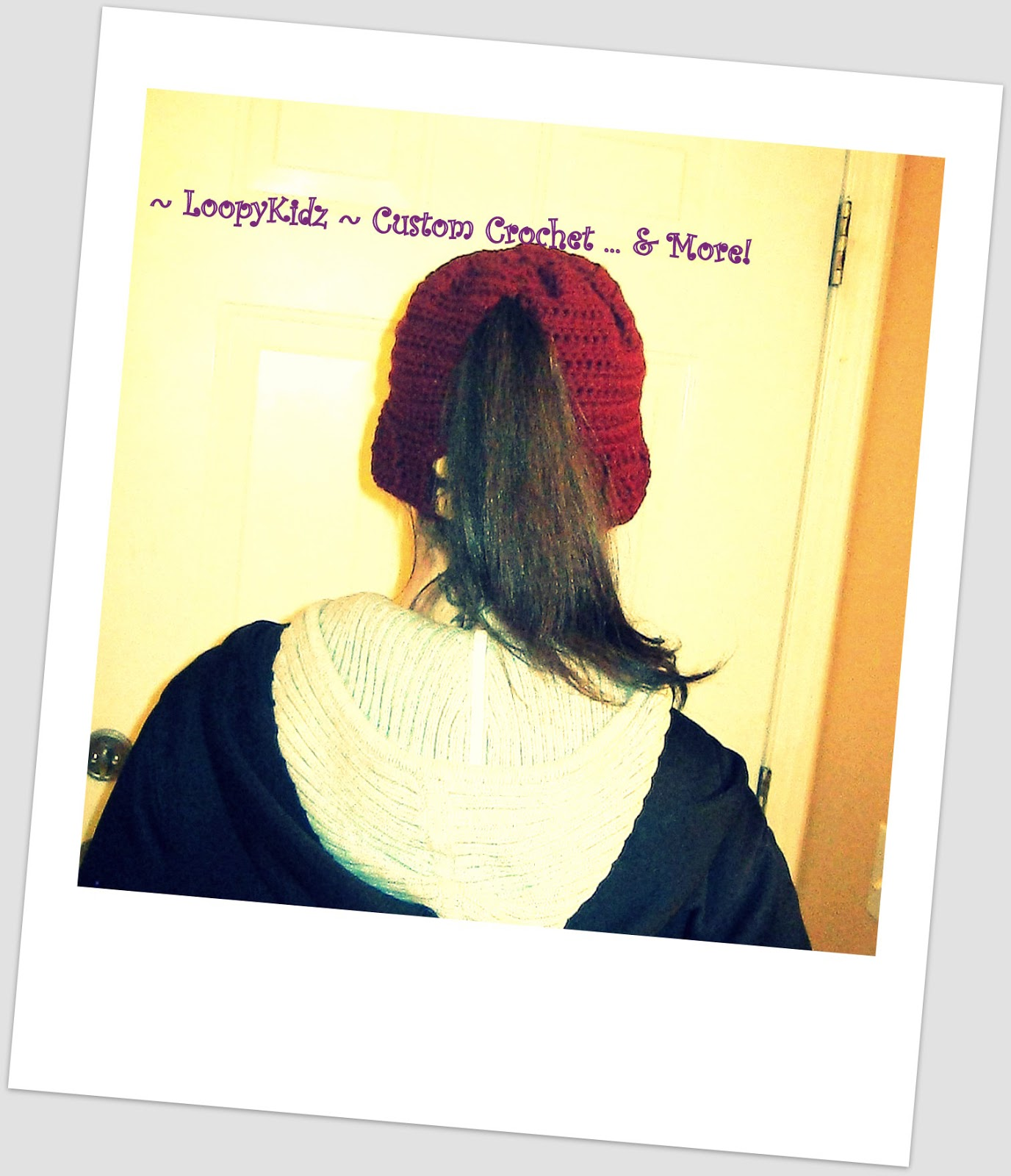 ... ~ Custom Crochet ... and More!: Womens Ponytail Hat Crochet Pattern