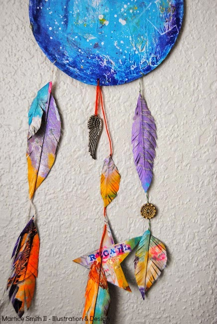 STEP 5: Assemble the Universe DreamCatcher; embellish