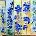 Marcadores de Livros 166      Flores Azuis