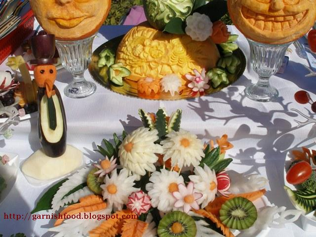 vegetable carving display exhibition