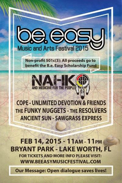 B.E. Easy Music & Arts Festival Flyer