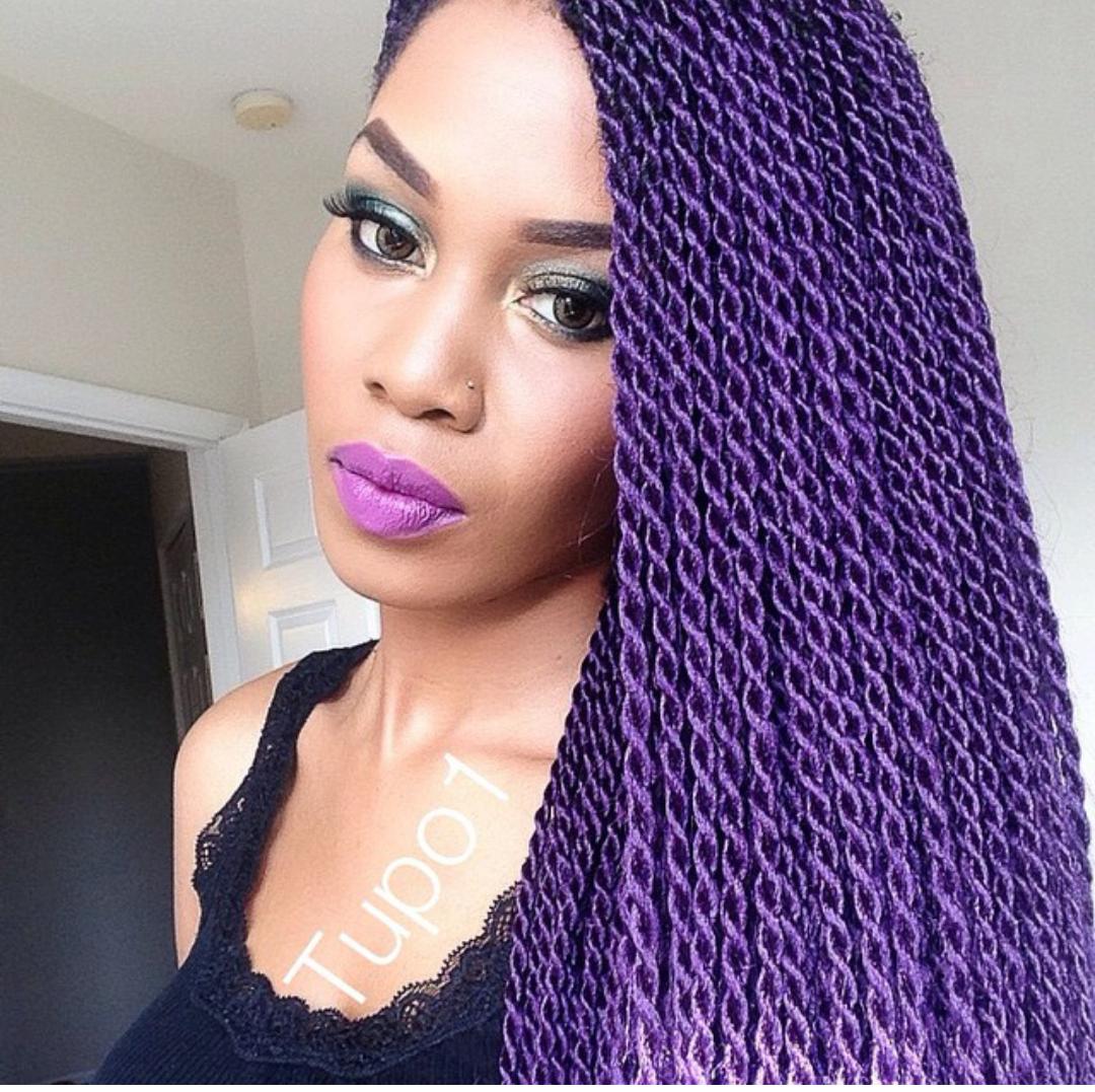 Stella Dimoko Korkus.com: Coloured Braids/Weaves Trending Now?