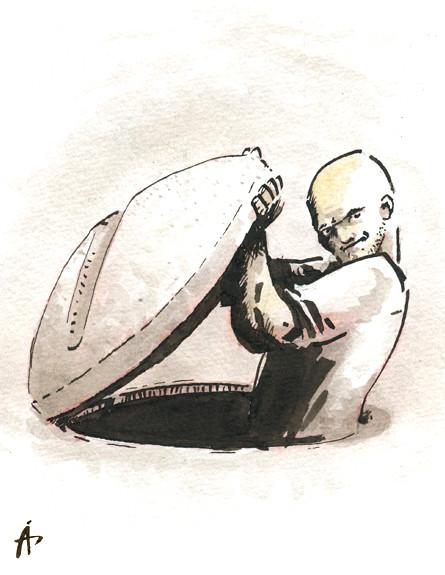 בלי ציפרלקס - יציאה מבאר השחת - איור עמיר דרור