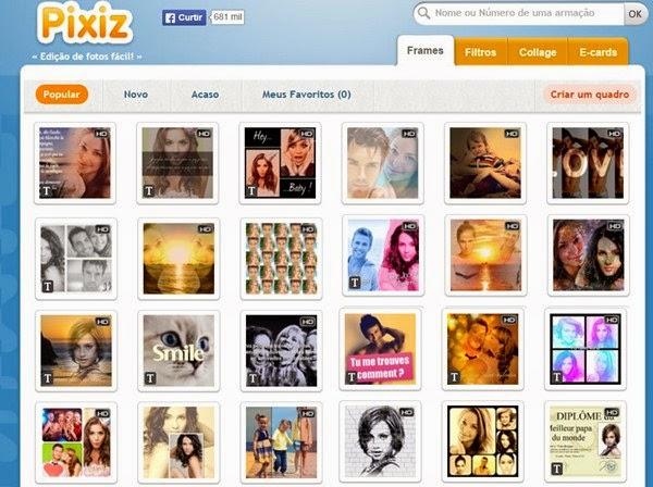 Editor de fotos online Pixiz