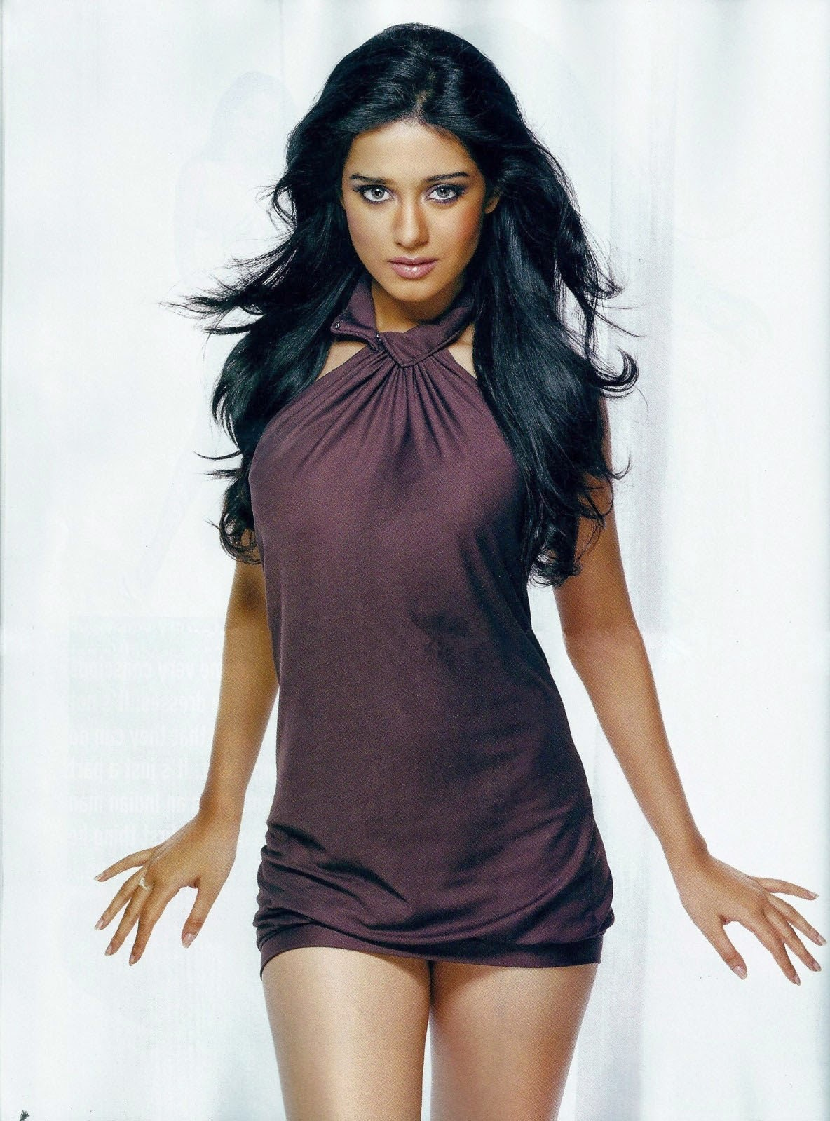 hot-amrita-rao-looking-sexy-in-purple-mini-dress
