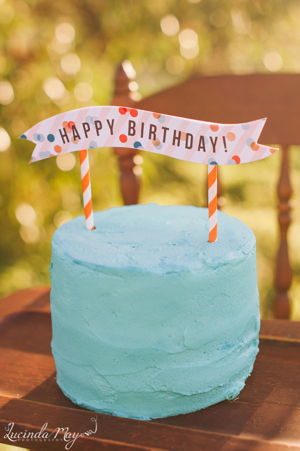 boys birthday cake topper adelaide blue orange confetti