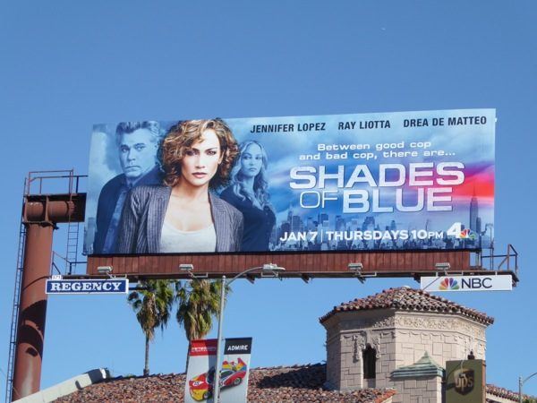 Shades of Blue series premiere billboard