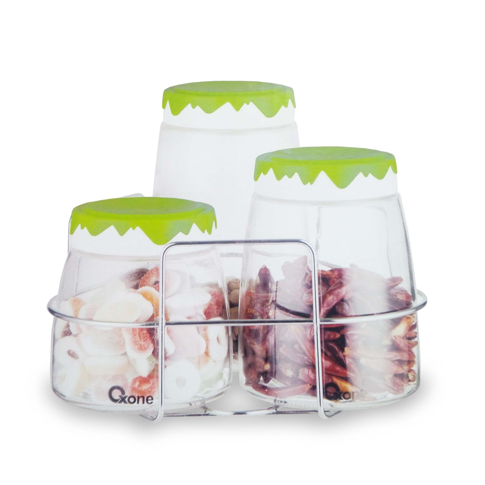 OX-404R | Oxone Snowy Jars with Rack