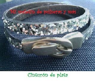 Pulsera cinturón de plata