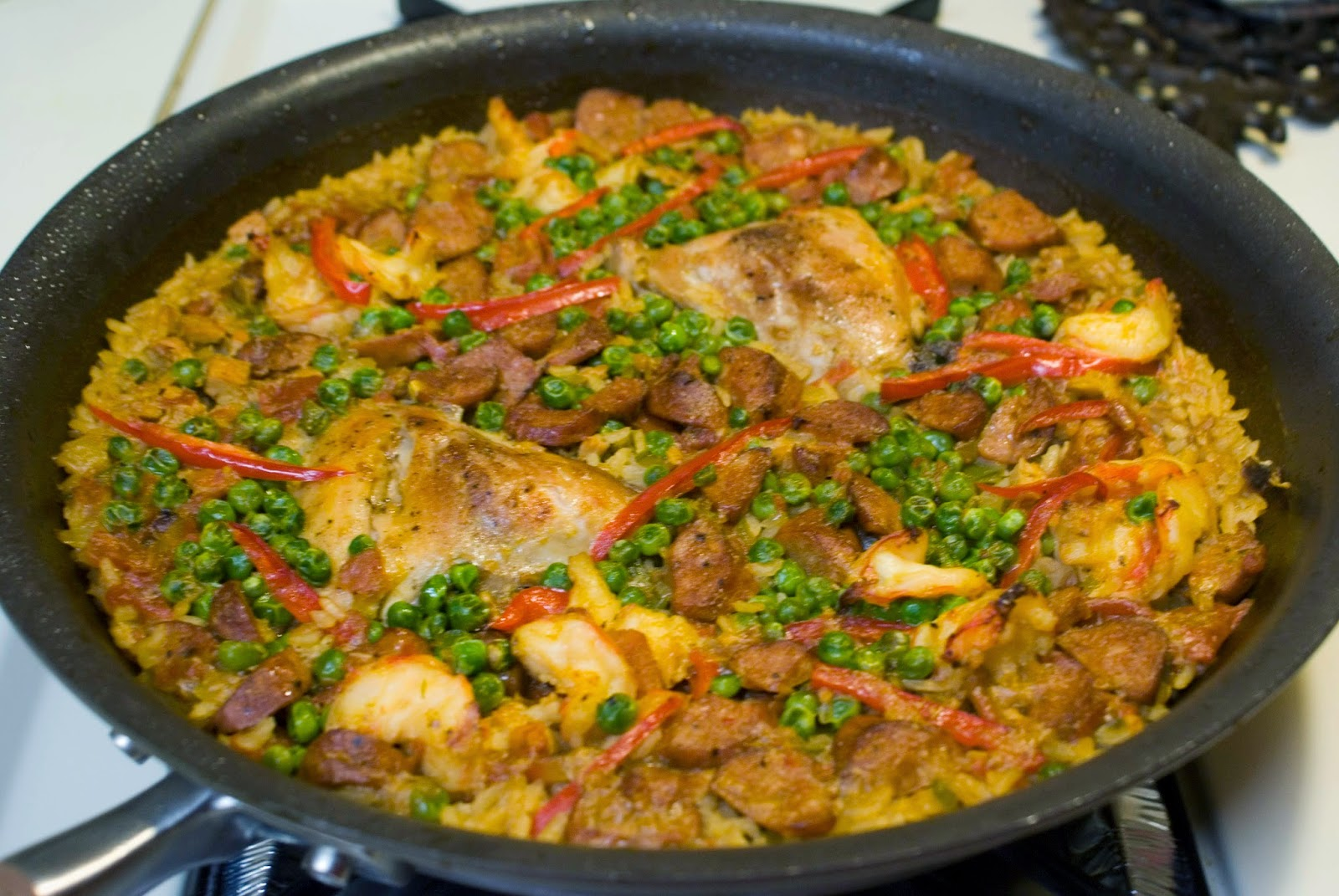 Paella (Saffron Rice with Chicken and Seafood)
