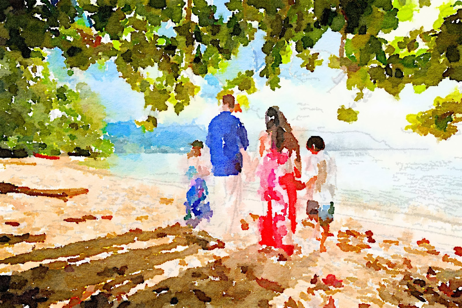 Family Picture Created with Waterlogue App