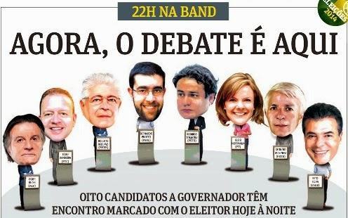 VAIS SAIR FAÍSCA DEBATE ENTRE OS CANDIDATOS AO GOVERNO DO PARANÁ 2014