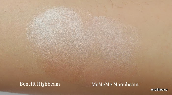 highlighter dupe high end vs high street benefit mememe cheek