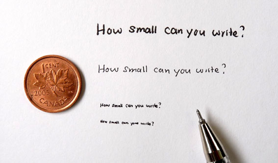 Penchant for Paper: How Small Can You Write?