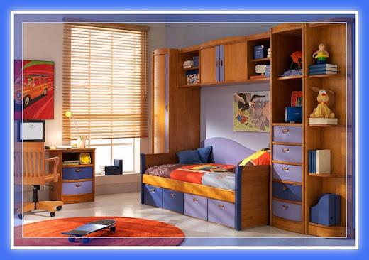 Decoraci n dormitorios juveniles con muebles de melamina for Diseno de muebles dormitorios juveniles