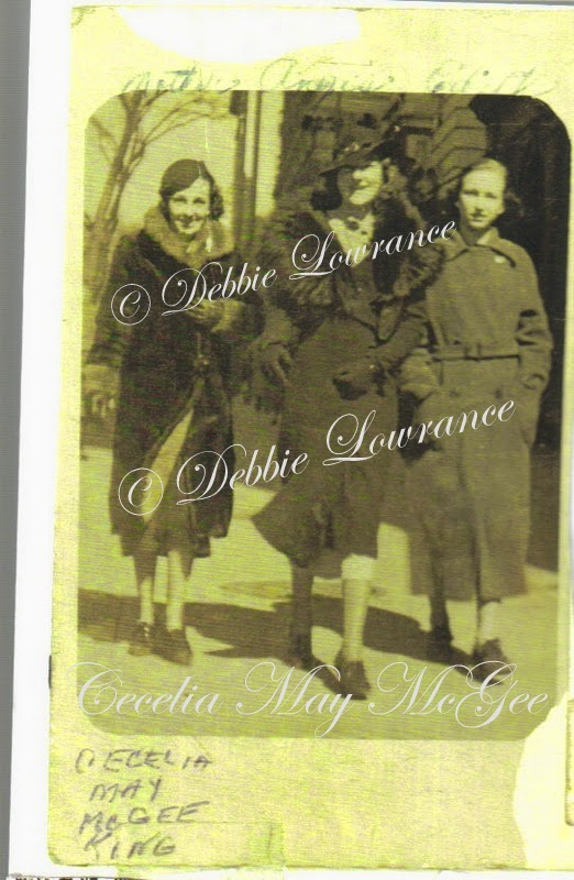 Cecelia Mae McGee King, Agnes, and Edith.  My Family History Journey - Debbie Lowrance