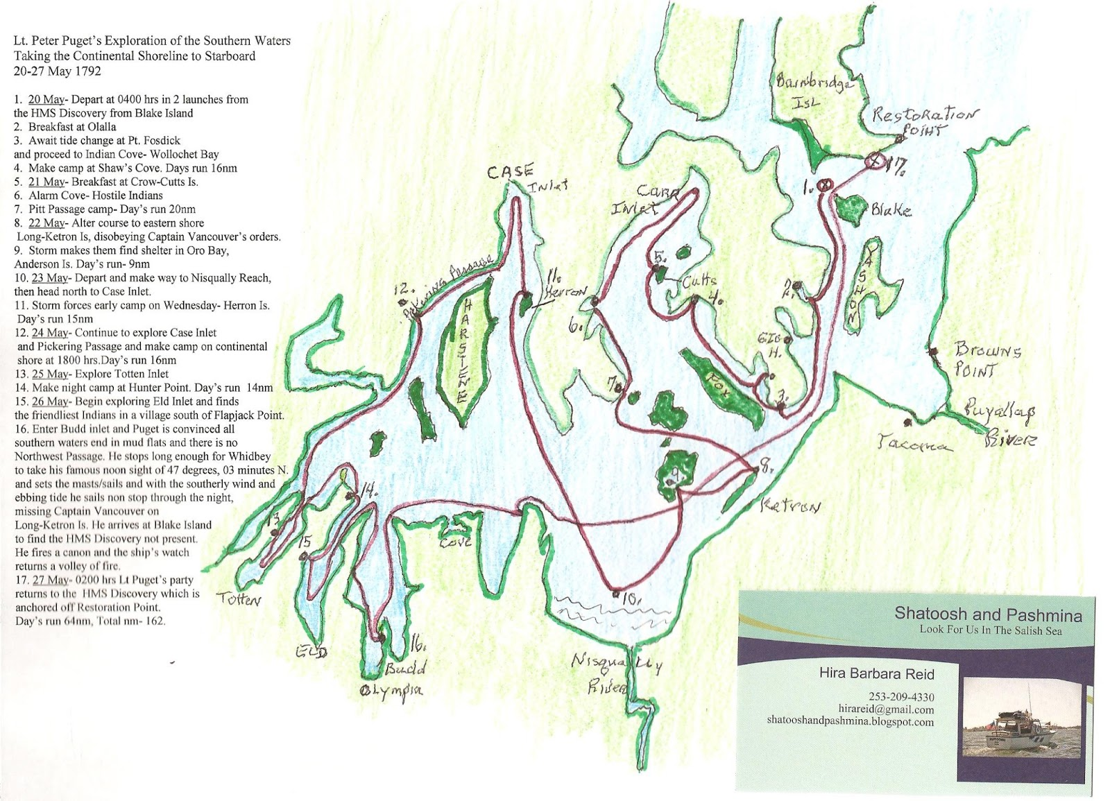 peter puget s route in the south sound