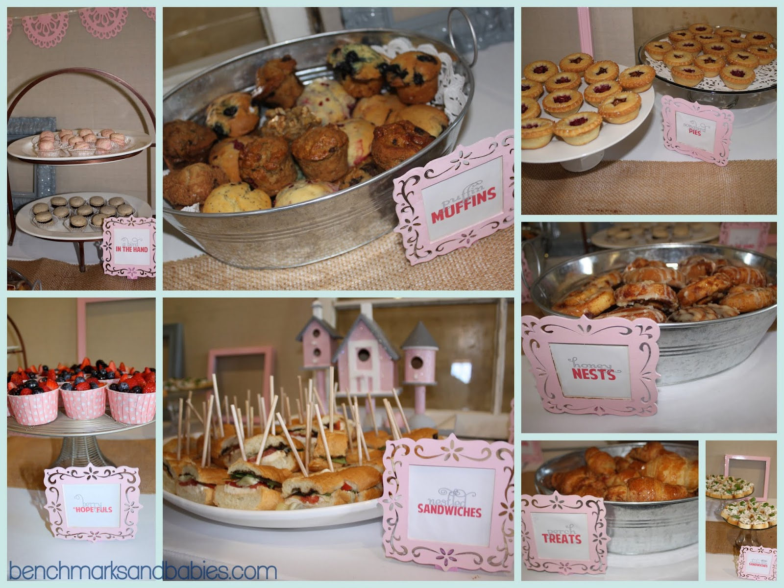 benchmarks and babies A Bird Nest Theme Baby Shower