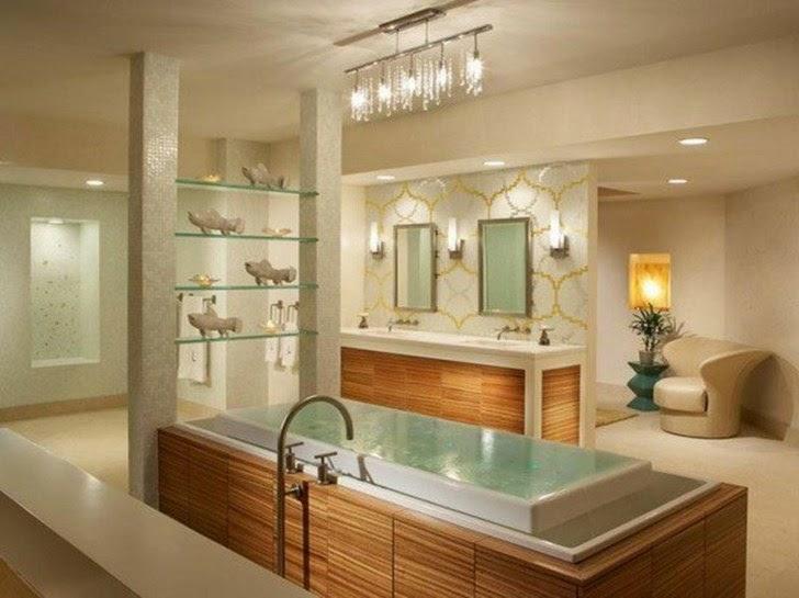 Desain Kamar Mandi Modern yang Mewah dan Elegan