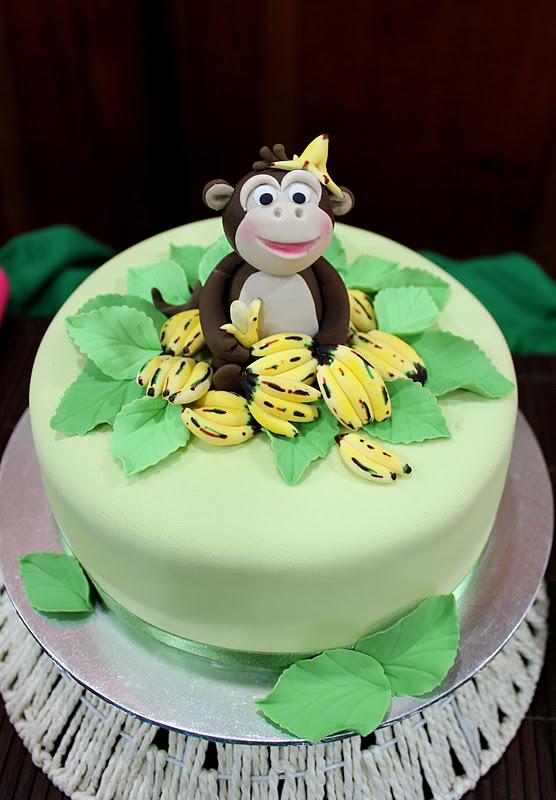 the monkey boy has got to have a monkey cake