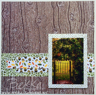 Into the Woods Scrapbook Page Sneak Peek - Stampin' Up! UK Papers Available from 1 September 2015