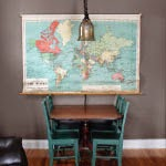 Repair a Vintage School Map