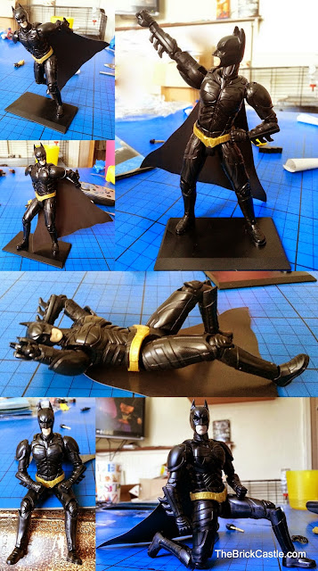 Bandai SpruKit figure Level 2 Batman The Dark Knight Rises range of movement articulation