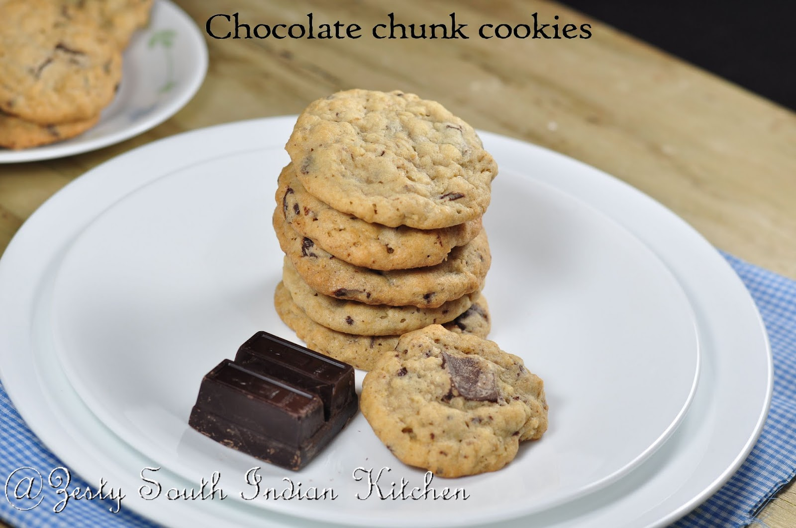 Chocolate Chunk Cookies - Zesty South Indian Kitchen