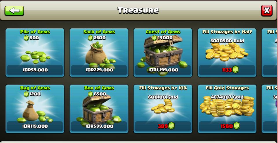 free gems game coc