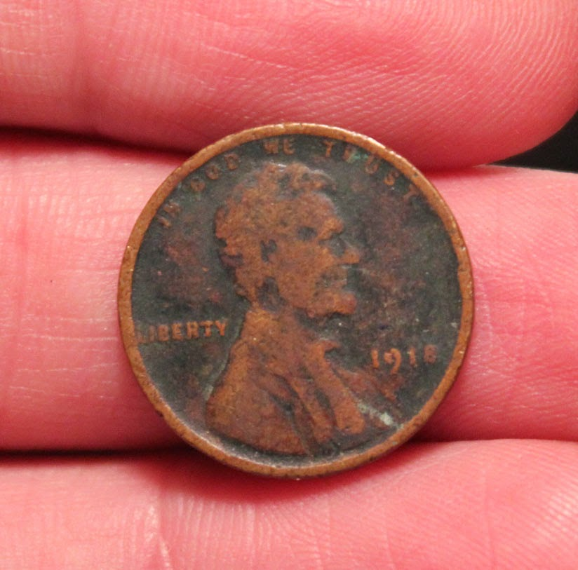 1918 US wheat penny heads