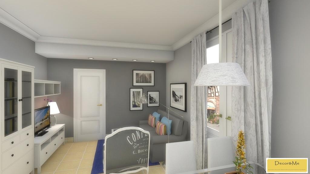 Decor me proyecto de sal n y dormitorio de estilo actual - Salones ikea precios ...