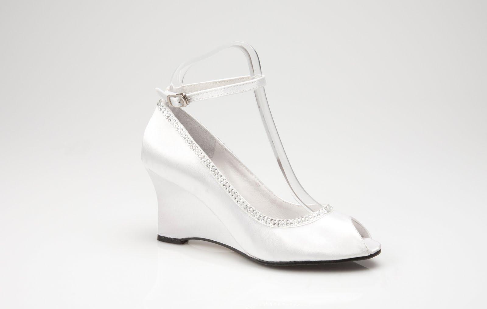 White Wedge Wedding Shoes