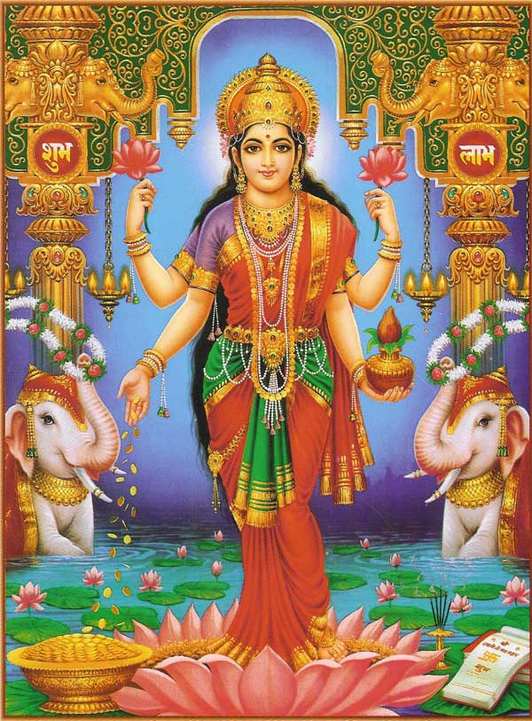 hindu god images download. Picture of Goddess Lakshmi, the Hindu Goddess of Wealth & Prosperity