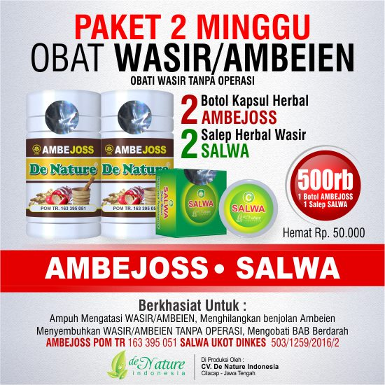 Paket Obat Herbal Wasir 2 Minggu