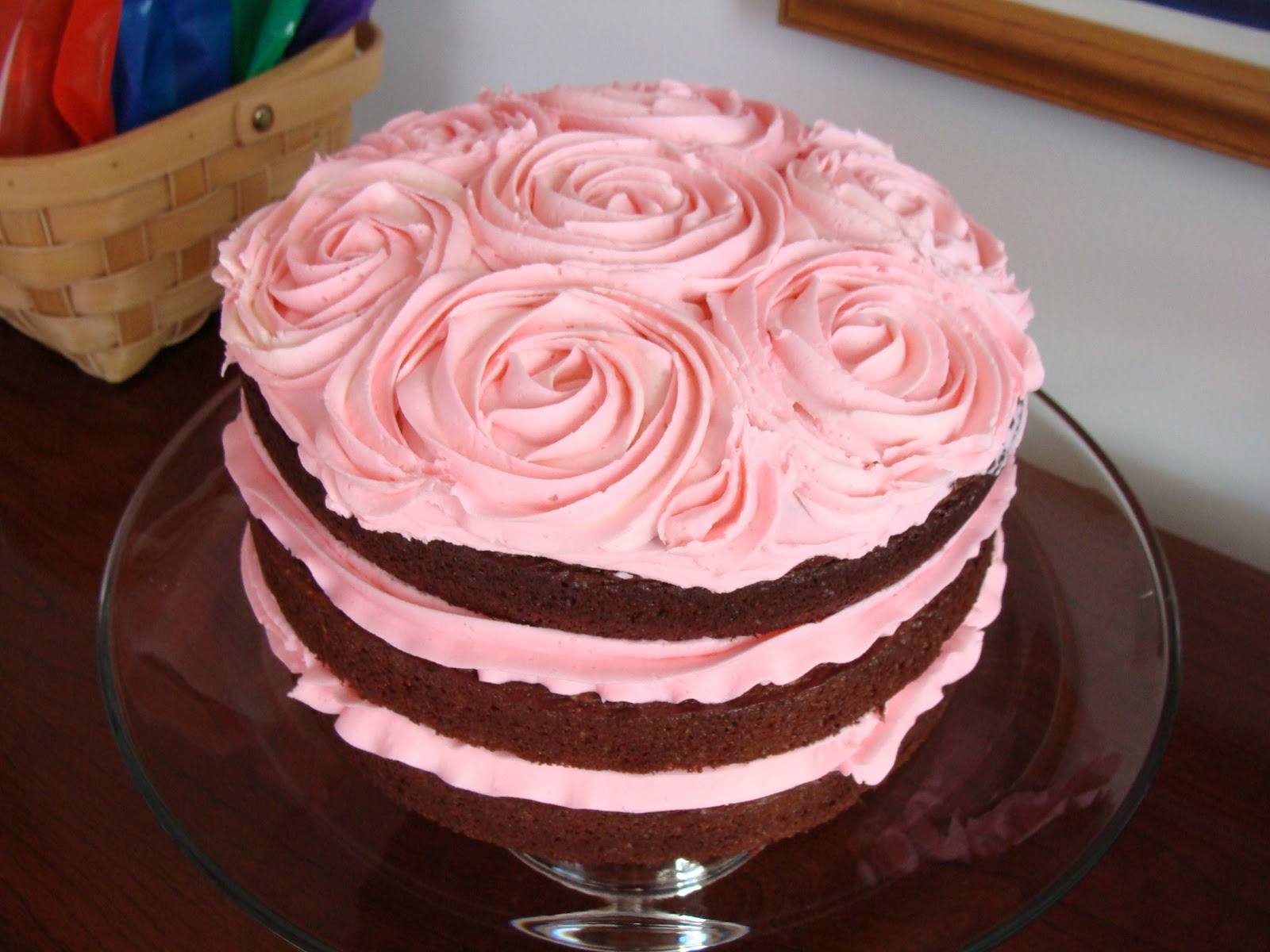 ... struck when i saw this rose cake on i am baker here s babygirl s cake