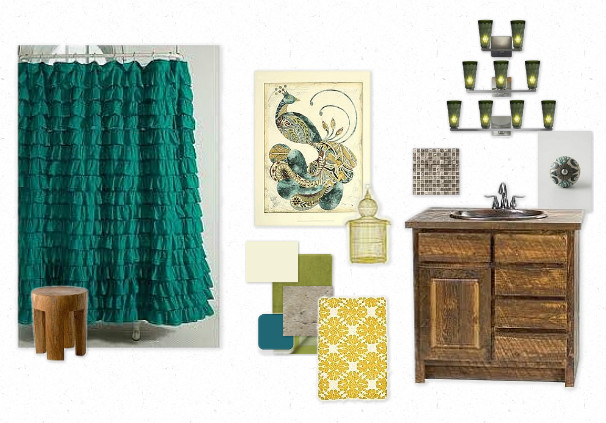 creatively christy: Peacock Bathroom