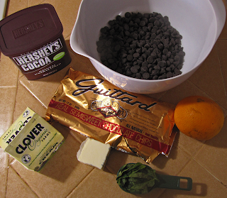 Chocolate, Basil, Orange, Organic Cream, Butter